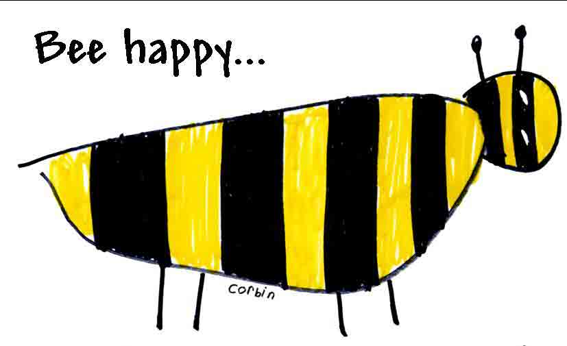 Corbin-Smiles Bee Happy Tee Shirt